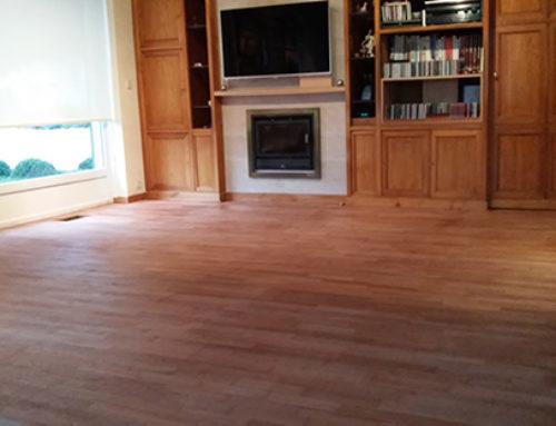 Renovation of wooden floor at Overijse