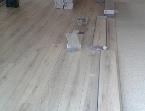 Placing laminate in Overijse